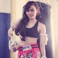 """""""Hot girl"""" Kim Ngân mê Muay Thái"""