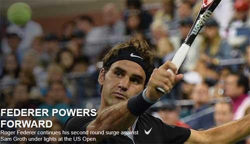 Federer - Samuel Groth: Bản lĩnh huyền thoại (V2 US Open) - 1