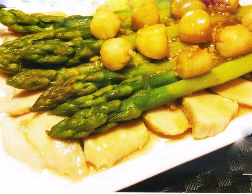 Măng tây xào nấm đùi gà - 1
