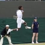 Thể thao - Siêu phẩm Flying Forehand của ''gã điên'' Monfils