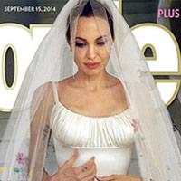 """Chiếc váy cưới """"độc nhất"""" của Angelina Jolie"""