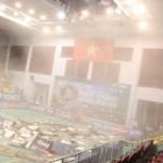 Thể thao - Sập trần nhà thi đấu giải cầu lông VN Open, VĐV hú hồn