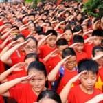 Giáo dục - du học - Lễ khai giảng đỏ rực sắc cờ ở trường Lương Thế Vinh