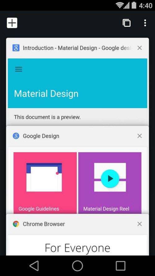 Chrome 37 trình làng trên Android: Giao diện Material Design - 1