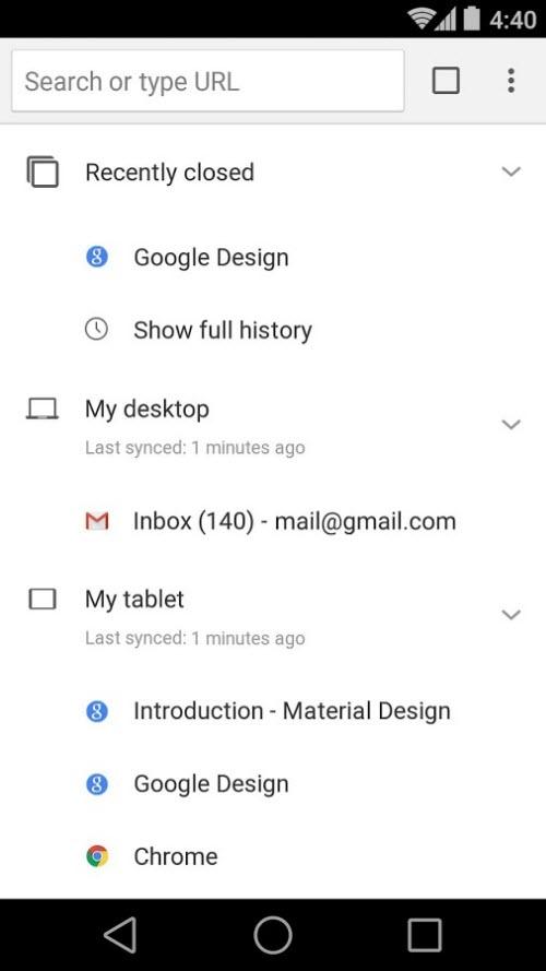 Chrome 37 trình làng trên Android: Giao diện Material Design - 2
