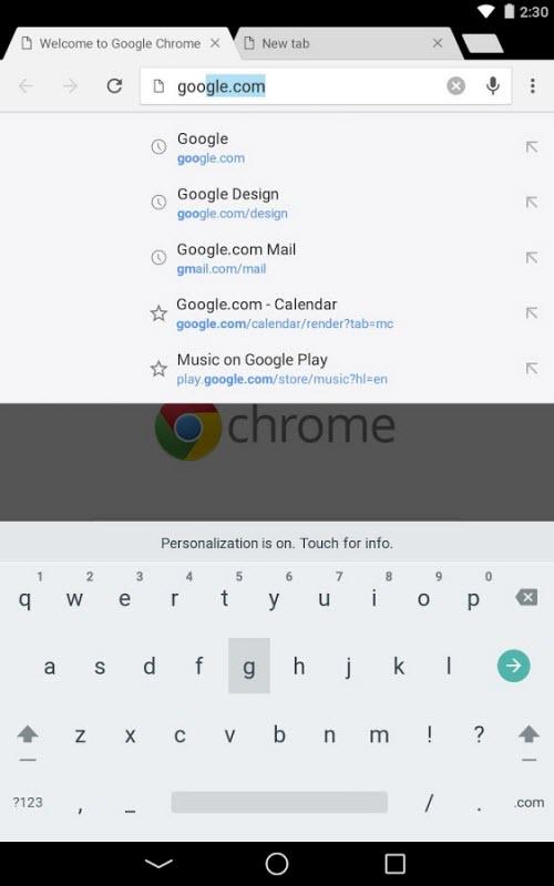 Chrome 37 trình làng trên Android: Giao diện Material Design - 5