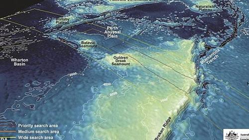 """Vụ MH370: Phát hiện """"vật thể cứng"""" dưới đáy biển - 2"""