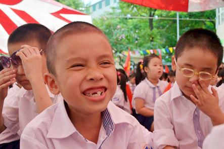 Xúc động lễ khai giảng của học sinh khiếm thị Hà Nội - 9