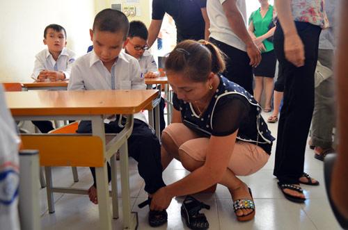 Xúc động lễ khai giảng của học sinh khiếm thị Hà Nội - 12