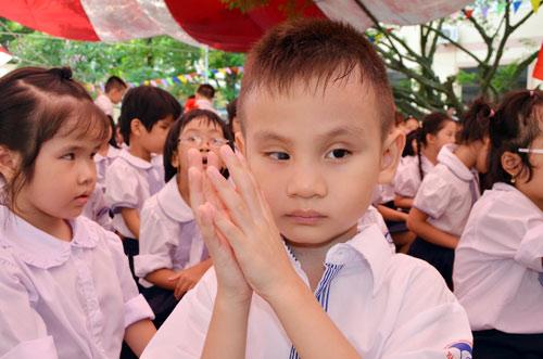 Xúc động lễ khai giảng của học sinh khiếm thị Hà Nội - 6