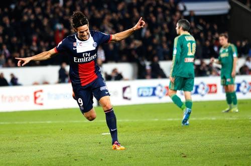 Cavani nâng cánh PSG tại vòng 4 Ligue-1 - 1