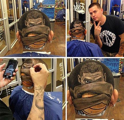 Chàng trai có biệt tài cắt tóc đẹp như tranh vẽ - 5