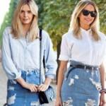 Thời trang - Biến hóa phong cách với chân váy denim