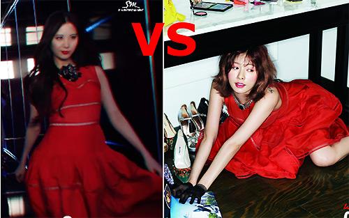 """Đọ độ xấu – đẹp của sao Hàn khi """"đụng hàng"""" váy áo - 5"""