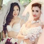 Thời trang - Mỹ nữ Việt gợi cảm với thời trang cô dâu