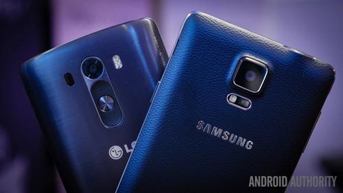 """Galaxy Note 4 vs LG G3: Hàng """"khủng"""" đối đầu - 1"""