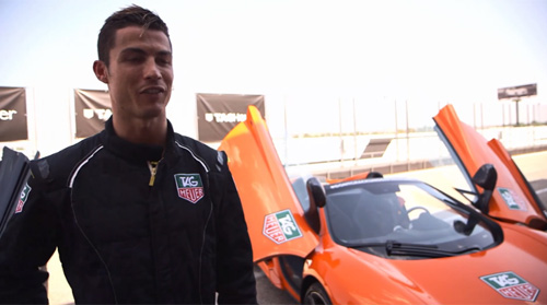 Cristiano Ronaldo đá bóng với siêu xe McLaren P1 - 1