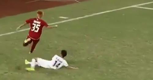 """Chặt chém """"đáng sợ"""" trận U19 Thái gặp U19 Myanmar - 1"""