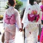 """Thời trang - Thiếu nữ Nhật """"liều lĩnh"""" mặc kimono xuyên thấu"""