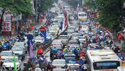 """""""Ác mộng giao thông"""" ở Hà Nội lên báo Nhật - 1"""