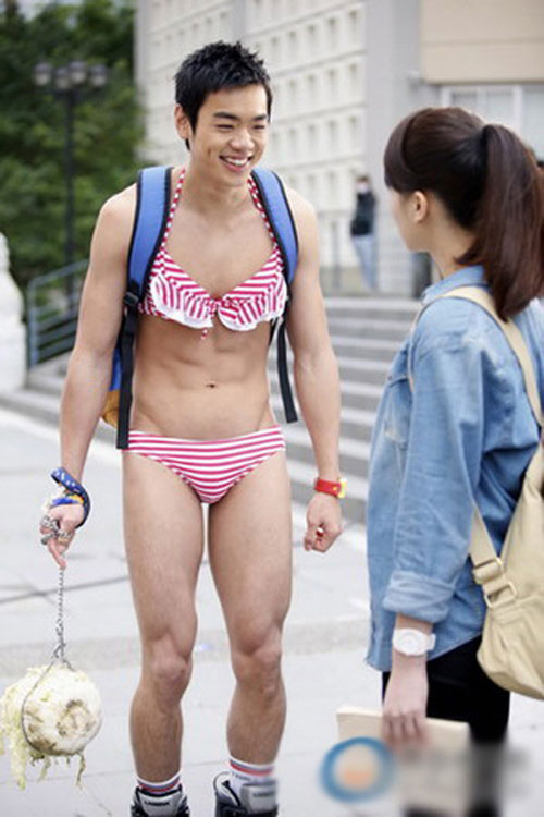 Sao nam xứ Đài mặc bikini hồng nổi bật ở tiệc phim - 7