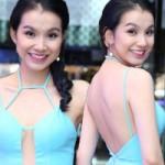 Hoa hậu Thùy Lâm mặc váy khoét, xẻ bạo