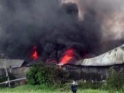Tin tức trong ngày - TPHCM: Cháy nhà xưởng, cột khói bốc cao cả chục mét
