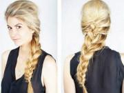 """Làm đẹp - 5 kiểu tóc đơn giản chỉ """"ngốn"""" 5 phút của phái đẹp"""