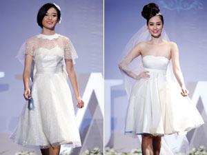 Váy cưới ngắn duyên dáng, tươi trẻ cho cô dâu Việt