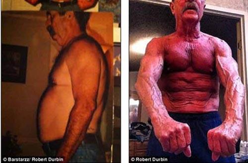 Kinh ngạc cụ ông 64 tuổi có cơ bắp cuồn cuộn như lực sĩ - 1