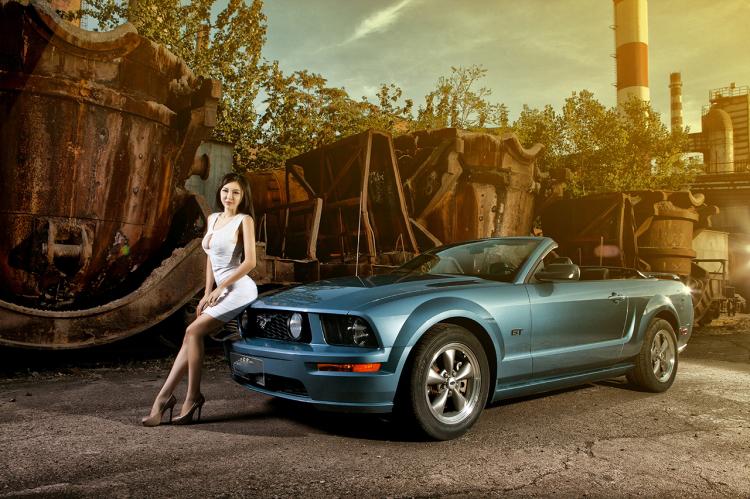 """Chân dài tạo dáng tự tin bên """"ngựa hoang"""" Ford Mustang - 6"""