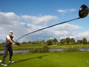 """Thể thao - Chiếc gậy golf """"siêu khủng"""" vào sách kỷ lục Guinness"""