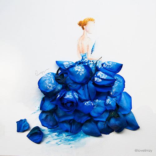 Váy, áo làm từ hoa tươi gây mê hoặc lòng người - 12