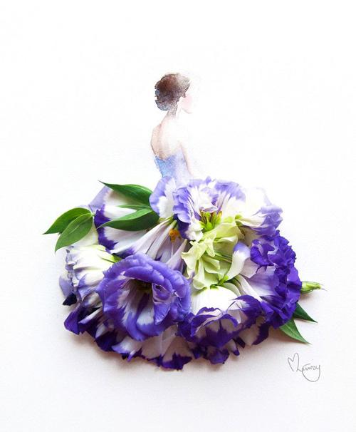 Váy, áo làm từ hoa tươi gây mê hoặc lòng người - 7