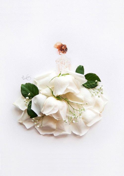 Váy, áo làm từ hoa tươi gây mê hoặc lòng người - 11
