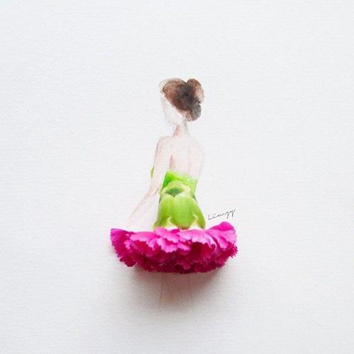 Váy, áo làm từ hoa tươi gây mê hoặc lòng người - 10