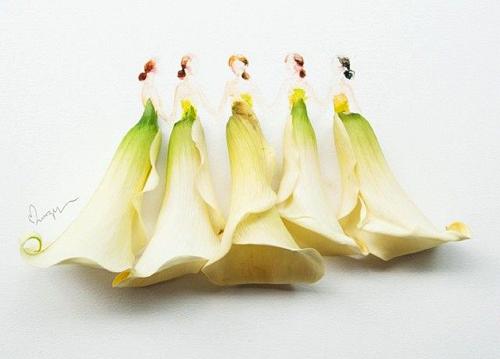 Váy, áo làm từ hoa tươi gây mê hoặc lòng người - 17