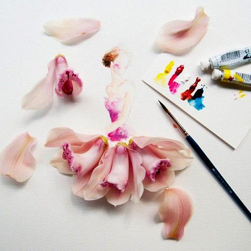 Váy, áo làm từ hoa tươi gây mê hoặc lòng người - 20