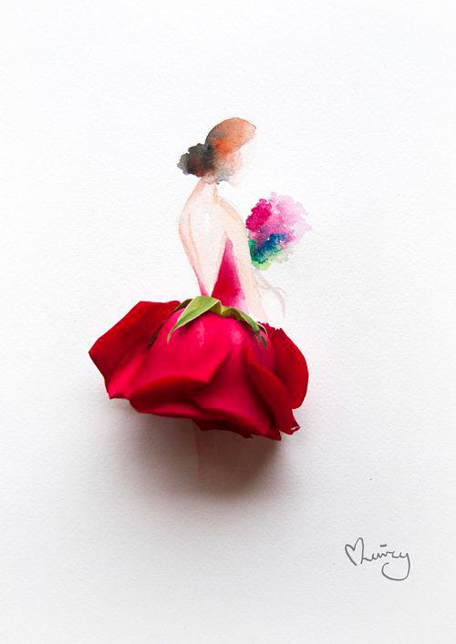 Váy, áo làm từ hoa tươi gây mê hoặc lòng người - 2