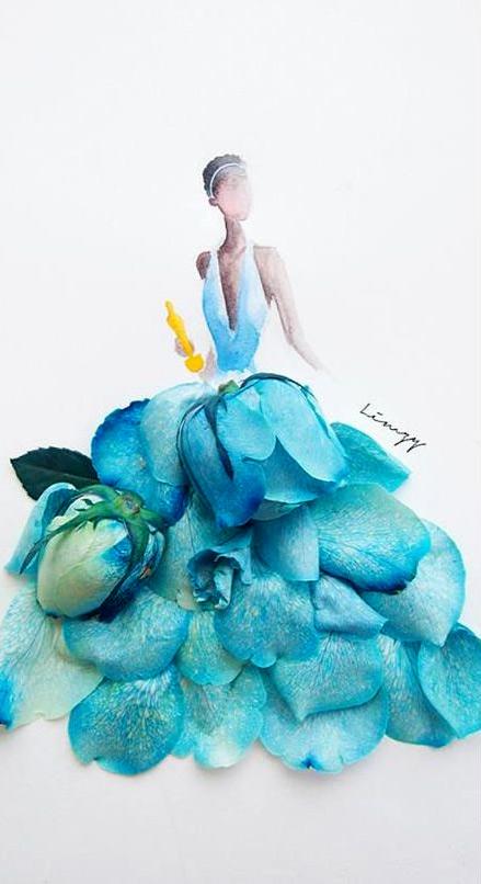 Váy, áo làm từ hoa tươi gây mê hoặc lòng người - 18