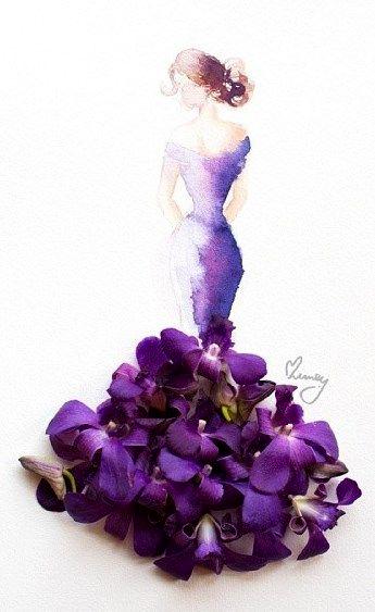 Váy, áo làm từ hoa tươi gây mê hoặc lòng người - 19