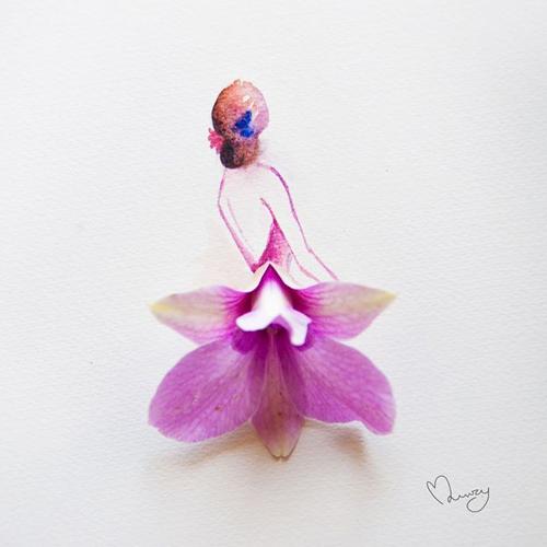 Váy, áo làm từ hoa tươi gây mê hoặc lòng người - 4