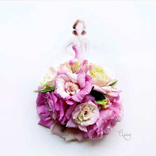 Váy, áo làm từ hoa tươi gây mê hoặc lòng người - 13