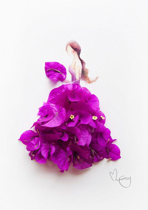Váy, áo làm từ hoa tươi gây mê hoặc lòng người - 15