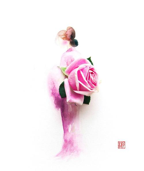Váy, áo làm từ hoa tươi gây mê hoặc lòng người - 16