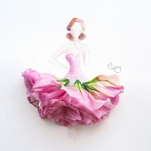 Váy, áo làm từ hoa tươi gây mê hoặc lòng người - 14