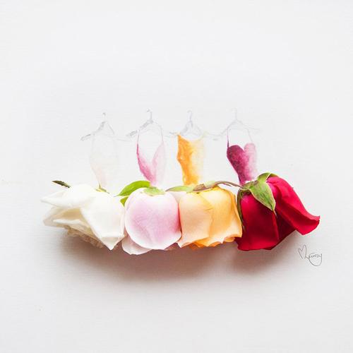 Váy, áo làm từ hoa tươi gây mê hoặc lòng người - 3