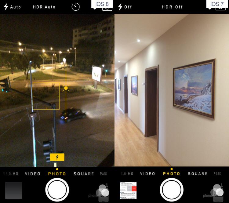 Tính năng chụp ảnh trên iOS 8 được nâng cao với hẹn giờ chụp và chỉnh tay.