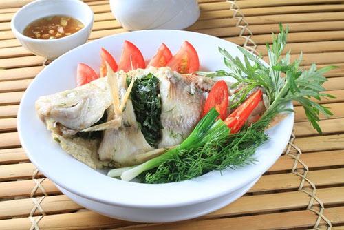 Cá diêu hồng nhồi thịt hấp tương xí muội - 1