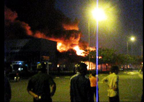 Công ty mực in Nhật Bản hoang tàn sau hỏa hoạn - 1